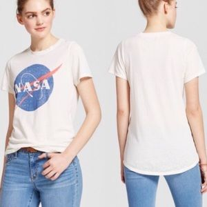 NASA Cap Sleeve Ivory Graphic T-Shirt